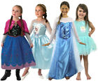 GIRLS FROZEN COSTUMES LICENSED ELSA ANNA FANCY DRESS OUTFIT DELUXE