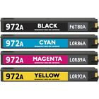 Set of 4 Remanufactured 972A Ink Cartridges for HP PageWide Pro 300 400 500
