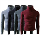 Men's Thermal High Collar Turtle Neck Long Sleeve Sweater Stretch Shirts Fashion