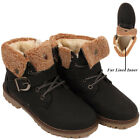 Girls Boys Winter Boots Kids Hi-Ankle Infant Fur Lined Collar Warm Lace Up Shoes