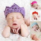 Cute Baby Girls Kids Crown Crochet Knitted Hairband Headband Turban Head Wrap