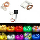 10-200 LED Battery/Solar Power Silver Copper Wire String Fairy Lights Waterproof