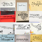 Внешний вид - Bathroom Rules Art Wall Stickers Vinyl Removable Decals Mural  Wall Stickers