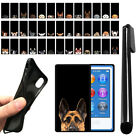 For Apple iPod Nano 7th Gen Dog Design TPU Black SILICONE Soft Case Cover + Pen
