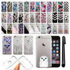 For Apple iPhone 6 4.7 inch Thin Clear Soft Silicone Gel TPU Case Cover + Pen