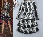 Christmas Occident fashion sexy water soluble flower color matching dress SMLXL