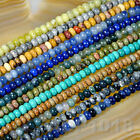4x6mm & 5x8mm Natural GemStone Rondelle Spacer Loose Beads Strand 15.5'