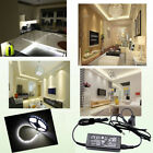 5M 300 LED Under Kitchen Cupboard Cabinet Neon SMD Strip Light with 12V Adpater