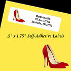 """Personalized Return Address Labels HIGH HEELS  Self-Adhesive 1/2"""" x 1 3/4"""" Laser"""