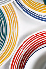 Lot of 2 New RED Lunch Salad Plates CORELLE BRUSHED STROKES Mandango or Boutique