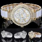 Men's Women's Rhinestone Crystal ALLOY Stainless Steel Analog Quartz Wrist Watch
