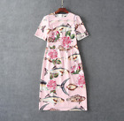 Occident fashion embroidered fish Printed diamond buttons Classy Cocktail dress