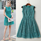 New Occident sexy hollow out order sequins pressure plait posed sleeveless dress