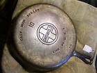#10 Griswold Cast Iron Skillet, 716, Flat Bottom,Large Logo, Block, Cleaned