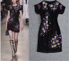 New Occident runway Modern Vintage embroidery fringed edge makings dress SMLXL