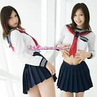 Japanese Girls High School JK Sailor Uniform Outfit Dress Suit Cosplay Costume