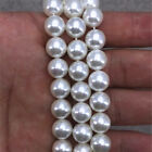 """new 8-20mm Natural white South Sea Shell Pearl Round Loose Beads 15"""" Strand"""