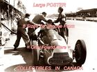"F1 1950 Juan Manuel Fangio FORMULA ONE Silverstone PIT =POSTER 8 SIZES 18"" - 36"""
