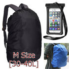 40LBackpack Dust Rain Cover Bag Camping Hiking Cycling+Waterproof Phone Dry Case