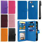 "For Google Pixel 2 5"" 2017 Flip Card Holder Wallet Cover Case Wrist Strap + Pen"