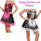 Maid French Maid Costume Black White Pink Size 10-12
