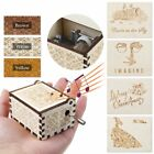 Retro Wooden Hand-crank Clockwork Music Box Castle in the Sky Birthday Gift Xmas