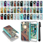 """For Apple iPhone 8/ iPhone 7 4.7"""" Hybrid Bumper Shockproof TPU Case Cover + Pen"""