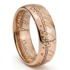 8mm Rose Gold Lord of Ring, LOTR Ring, ONE Ring, Tungsten Ring size 10.5
