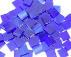 Dark Blue & White Hand Cut Stained Glass Mosaic Tiles #307