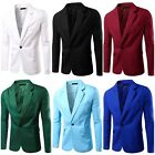 Trendy Gentlemen Men's Casual Slim Fit One Button Suit Blazer Coat Jacket Tops