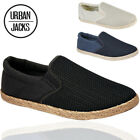 MENS SLIP ON ESPADRILLES CANVAS PUMPS FLAT CASUAL SHOES MULES  UK 7 8 9 10 11 12
