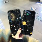 Glass Back Galaxy Space Universe Pattern Hard Case Cover For iPhone X 8 7 6 Plus