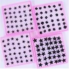 Candy Resin Plastic Stick black star Stud Earrings Fashion Jewelry 18pairs / lot
