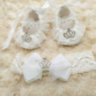 Newborn Baby girl shoes baby shower gift reborn doll shoes Handmade 0-12M White