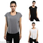 Womens Sports T-shirt Yoga Comfy Fitness Gym Workout Running Top Casual Blouse