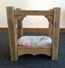 LUXURY 4 POSTER DOG BED / CAT BED ~ BESPOKE ~ RUSTIC ~ 59cm W x 46cm D x 64cm H