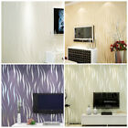 Bedroom Fashion Non-woven Cloth Sticker Water Plant 3D Embossed Wallpaper Decor
