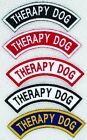 Therapy Dog Rocker Patch Service Assistance medical Support Disabled Danny LuAnn