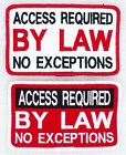 Access Required By Law No Exceptions Service Dog Patch 2.5x4 Vest Danny LuAnn
