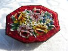 STUNNING Detailed VINTAGE Floral Tiny MICRO MOSAIC BROOCH Italy