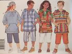 OOP BUTTERICK 3394 Girls/Boys Hooded Top & Shorts PATTERN S-M-L/7-8-10-12-14 UC