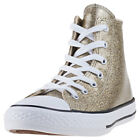 Converse Chuck Taylor All Star Hi Kids Gold Synthetic Casual Trainers Lace-up