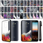 "For Alcatel Revvl A30 Fierce 2017 5.5"" Black Clear Case TPU Bumper Cover + Pen"