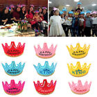 Prince Princess Crown Birthday Party LED Light up Hats Cap Tiara for Kids Adult
