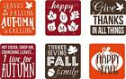 Set of 6 Vinyl Decal Stickers For Glass Blocks Thanksgiving Fall Gift Home Decor