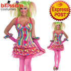 CA576 Ladies Tootsie Circus Clown Cosplay Birthday Carnival Fancy Dress Costume
