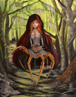 $29.95 in - Little Red Riding Hood by Artist J.K. McGreens Spider Fairytale Canvas Art Print