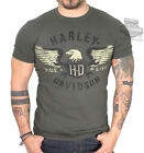 Harley-Davidson Mens Finding Fate Eagle Seaweed Green Short Sleeve T-Shirt $14.99 USD