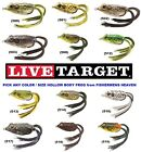 Внешний вид - Live Target Frog Hollow Body Topwater Lure FGH Pick Any Color or Size Koppers