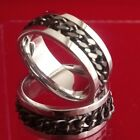 mens stainless steel curb link chain ring